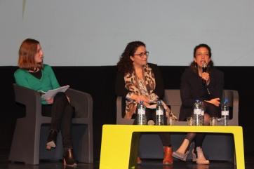 La co-présidente de l'AET, sur la scène du Forum de l'Economie Territoriale
