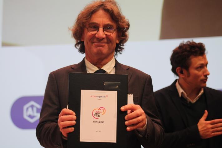 Paris, 20 novembre 2018. Signature de la convention avec Action Logement, dans le cadre d'Action Coeur de Ville.